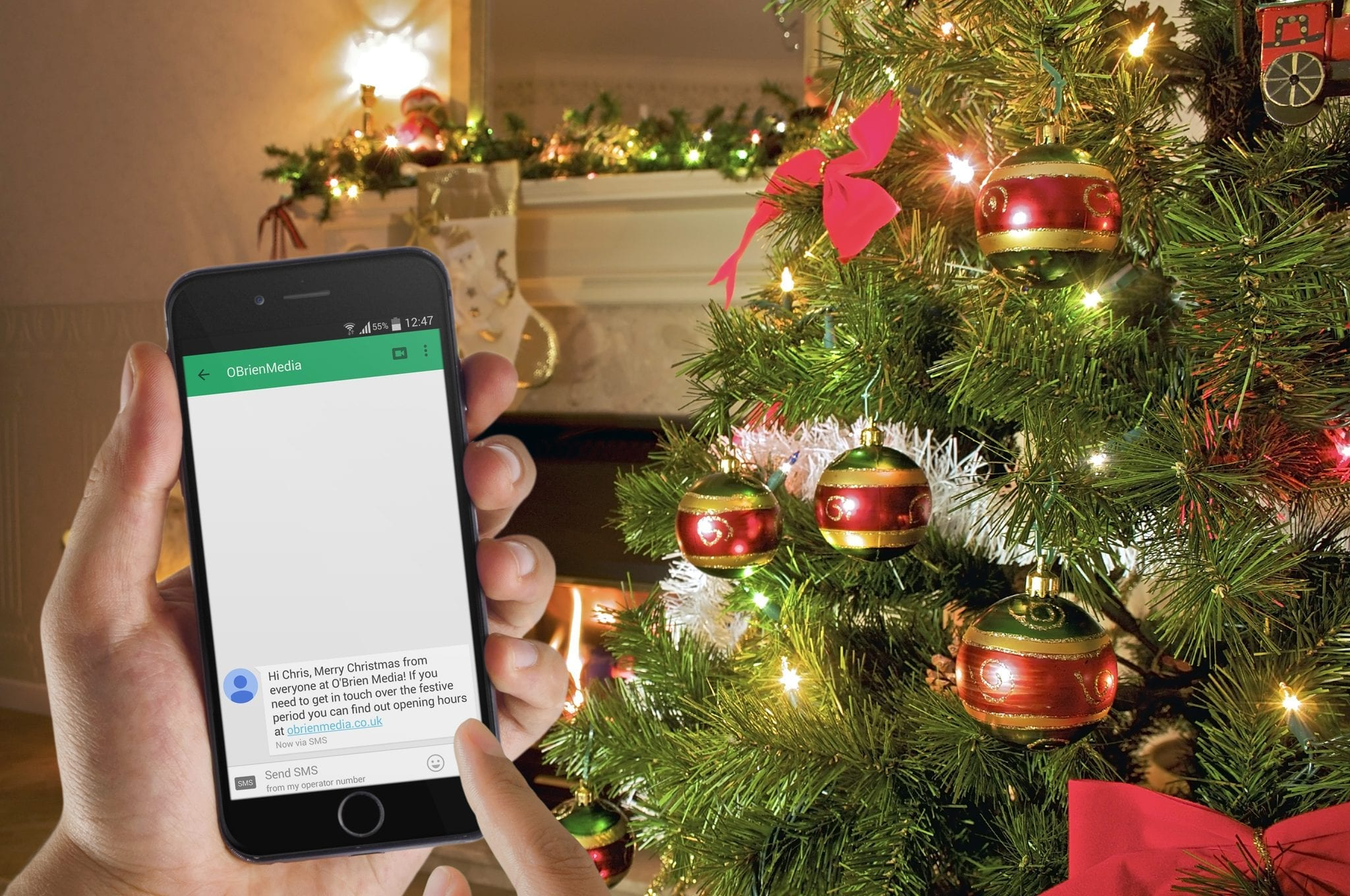 Send a festive message to your customers via text this Christmas