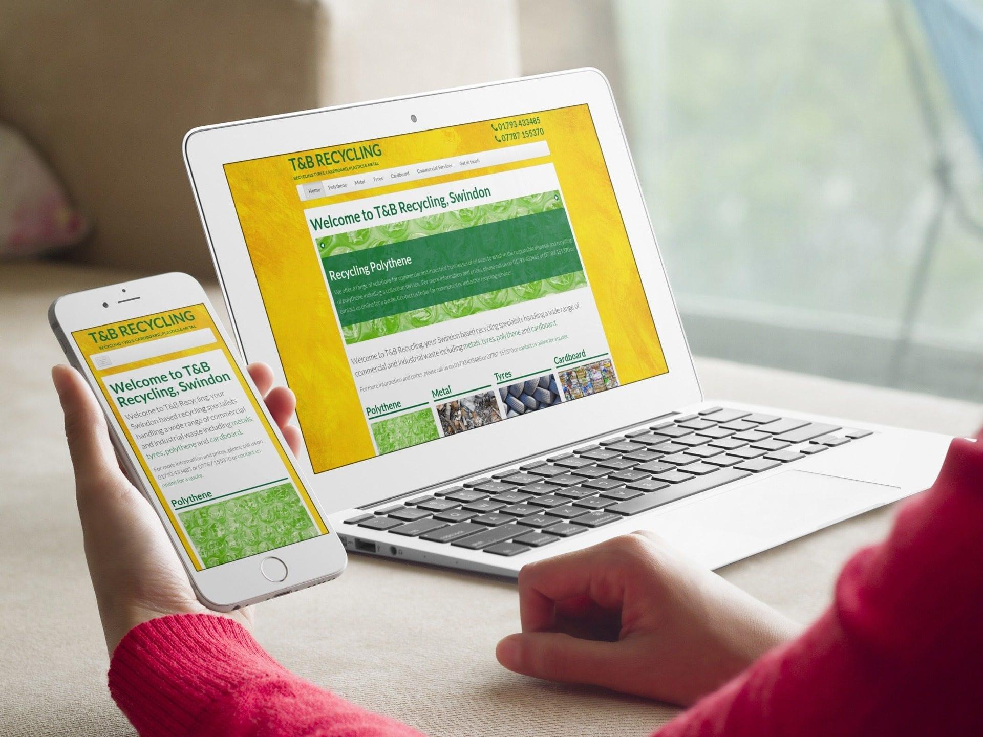 Responsive website for Swindon based T&B Recycling.jpg