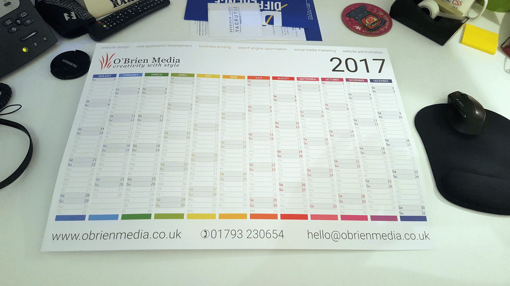 Branded wall planners
