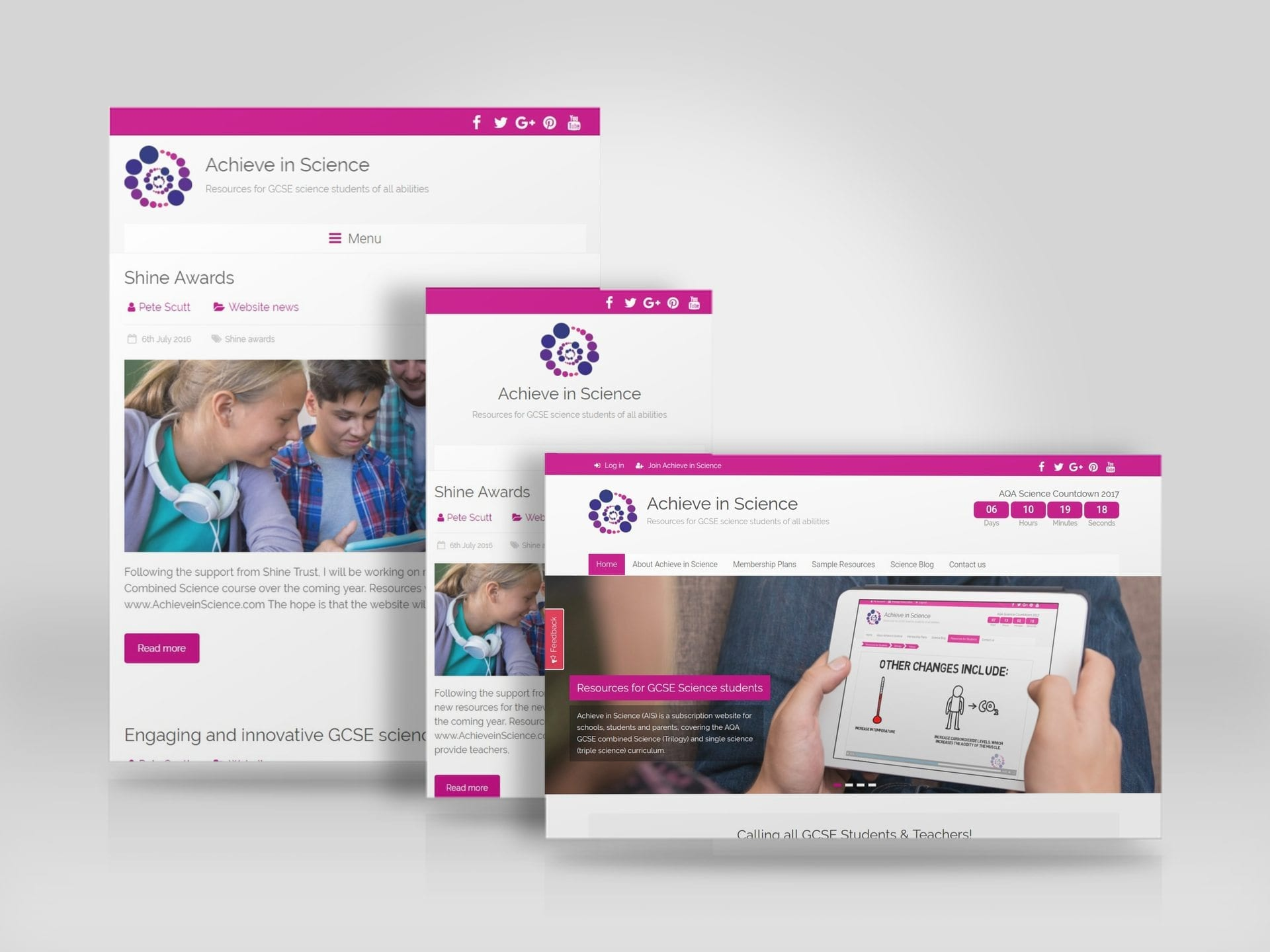 GCSE Science learning resource website built with WordPress for Achieve in Science.jpg
