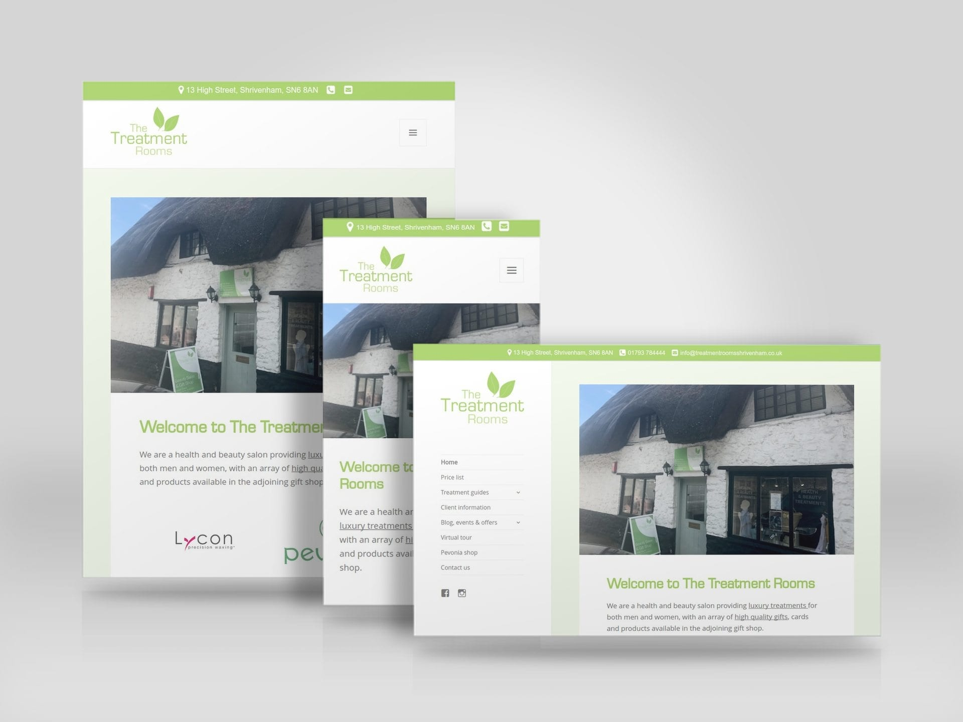 Mobile friendly business website for The Treatment Rooms Shrivenham.jpg