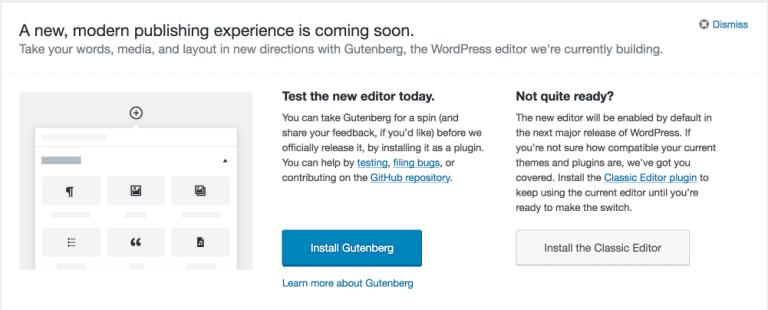Gutenberg Callout in WordPress 4.9.8