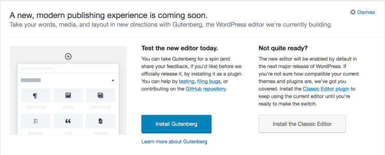 Gutenberg Callout in WordPress 4.9.8
