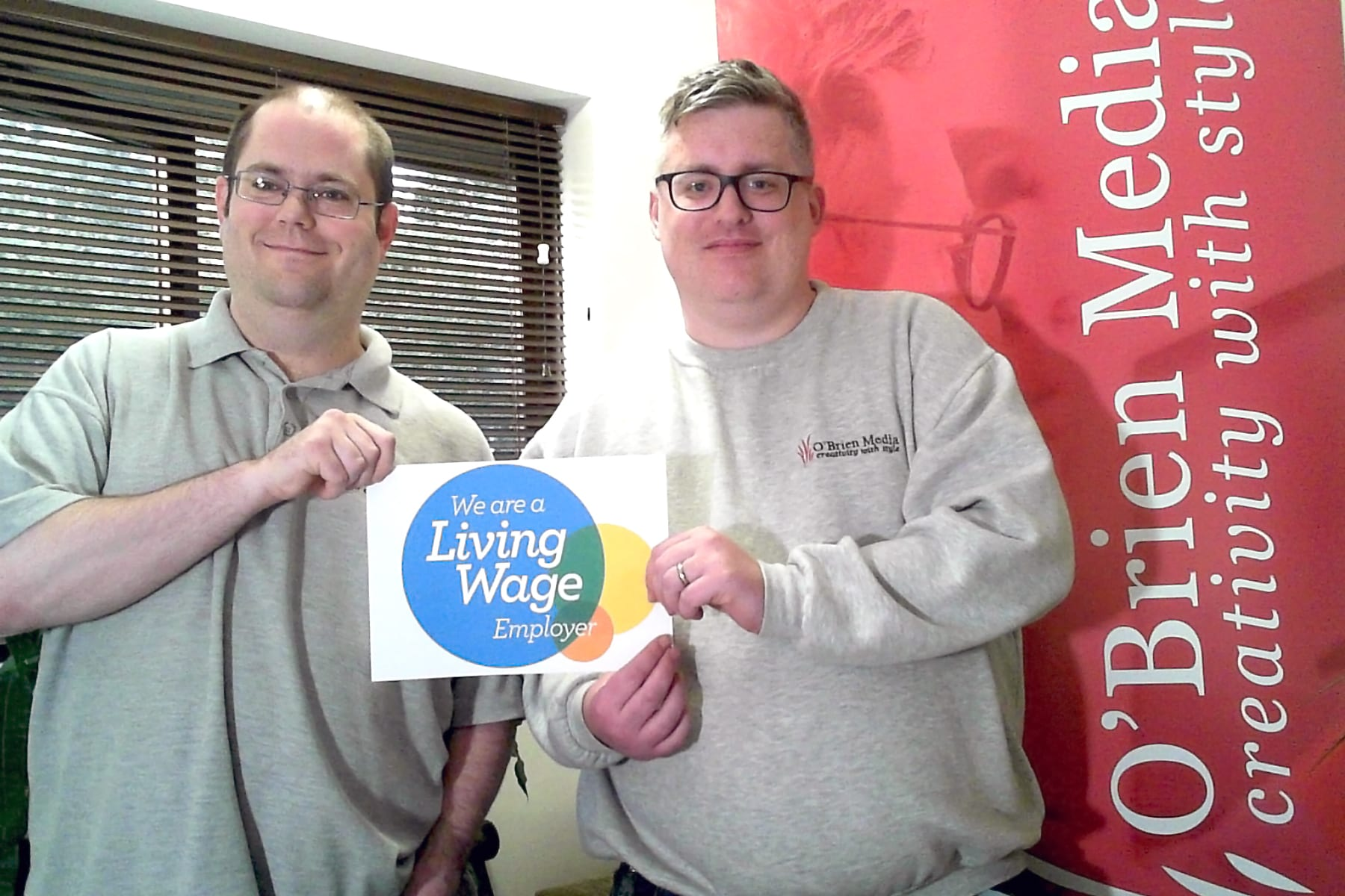 Andy Smart (left) and Chris Grant (right) - Living Wage Photo (PRESS)